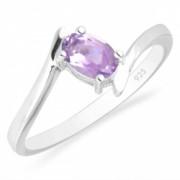 Inel argint Aurora 925 cu ametist roz - IVA0035