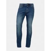 TOM TAILOR DENIM Conroy Tapered Jeans, Heren, Used Mid Stone Blue Denim, 32/34