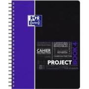 Caiet cu spirala A4+ OXFORD Student Projectbook 100 file-90g-mp 4 perf. coperta PP - dictando