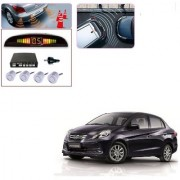 Auto Addict Car Silver Reverse Parking Sensor With LED Display For Honda Amaze