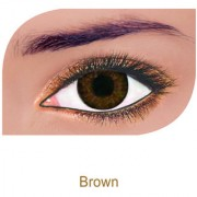 FreshLook Colorblends Power Contact lens Pack Of 2 With Affable Free Lens Case And affable Contact Lens Spoon (-6.00Brown)