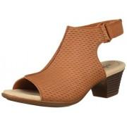 Clarks Women's Valarie James Heeled Sandal, Adobe Nubuck, 65 W US