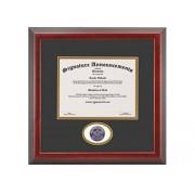 Signature Announcements Oral-Roberts-University Marco de Diploma de graduación con Sello de Aluminio esculpido de doctorado, 40,6 x 40,6 cm, Cereza