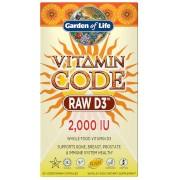 Garden of Life Vitamine D3 2000 Iu de Vitamin Code - 60 gélules