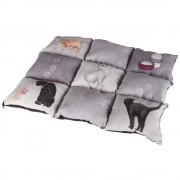 Almofada Trixie Patchwork cinza para gatos - C 55 cm × L 45 cm x A 6 cm