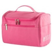 Insasta Travel Cosmetic Makeup Toiletry Case Wash Organizer Storage Pouch Toiletry Bag Travel Organizer Toiletry Kit Travel Bag Travel Toiletry Bag Unisex-Pink Waterproof Multipurpose Bag(Pink, 1 L)