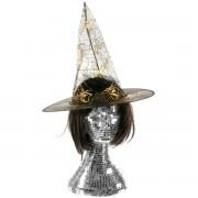 Palarie Halloween cu imprimeu auriu