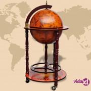 vidaXL Globus bar stalak za vino drveni