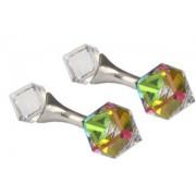 Mousie Bean Crystal Cufflinks Cubes 131 Vitrail Medium