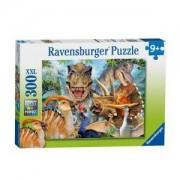 Пъзел Ravensburger 300 части - Снимка с динозаври, 7013246
