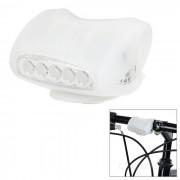 Bicicleta de ciclismo 7-LED 3-Mode lampara de luz blanca fria - blanco