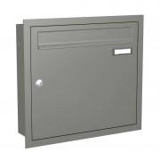 Modern letterbox Express Box Up 110 grey alu