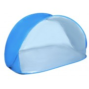 Cort plaja semi-deschis cu protectie UV, dimensiuni 150x100cm, culoare Albastru