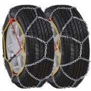 vidaXL 2 ks Sněhové řetězy na pneumatiky aut, 12 mm KN 70