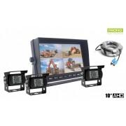 """AHD parkovací systém LCD HD monitor do auta 10"""" + 3x HD kamera"""