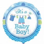 Balon Folie Its a baby boy 45cm