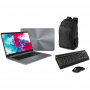 "Laptop Asus Vivobook F510q 15"" AMD A12 128GB SSD 4GB RAM + Mochila y kit Gaming"