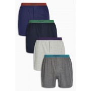 Mens Next Bright Waistband Loose Fit Four Pack - Multi