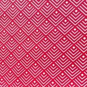 MÁTRIX, geometrikus mintás pamut vászon, piros