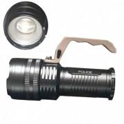 Lanterna LED Profesionala 3W cu Zoom, Maner, Acumulatori 3x18650 800LM