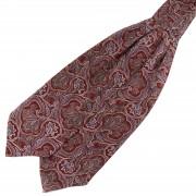 Tailor Toki Rode & Lavendelkleurige Barokke Zijden Stropdassjaal