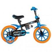 Caloi Bicicleta Caloi Hot Wheels - Aro 12 - Freio a Tambor - Infantil - PRETO/AZUL