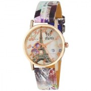 InstaDeal Paris Eiffel Tower Funky Multi color Dial Watches For Girls Women
