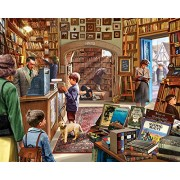 White Mountain Puzzles Cozy Book shop - 300 Piece Jigsaw Puzzle