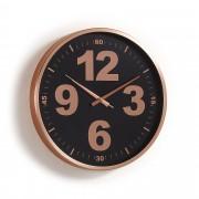 Kave Home Reloj de pared Mentha cobre