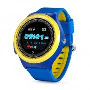 Ceas Inteligent pentru copii WONLEX KT06 Albastru, cu GPS, rezistent la apa, localizare WiFI si monitorizare spion