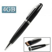 2 in 1 Pen Style USB Flash Disk Black (4GB)
