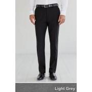 Mens Next Plain Front Slim Fit Trousers - Grey