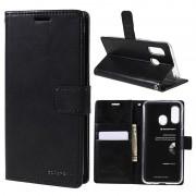 Mercury Goospery Blue Moon Samsung Galaxy A40 Wallet Case - Black