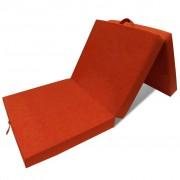 vidaXL háromrét összehajtható narancssárga matrac 190 x 70 x 9 cm