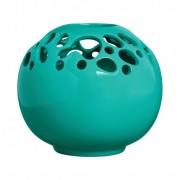 Vaso II Organic Azul Turquesa Brilho