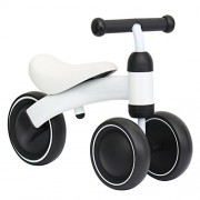 Binglinghua Children Balance Bikes Scooter Baby Walker Infant 1-3years Scooter No Foot Pedal Driving Bike Gift for Infant three wheel (White)