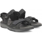 Clarks Men Black Sports Sandals