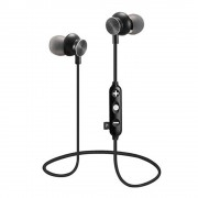 JEDX-14M In-ear Magnetic Wireless Bluetooth 4.1 Earphone with Mic Support TF Card for iPhone Samsung - Black