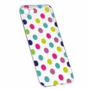 Husa Silicon Transparent Slim Dots Color Apple iPhone 6 6S