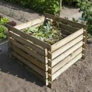 Nature Pubelă din lemn pentru compost, 650 L, 6070480