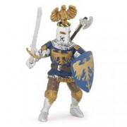Figurina Papo-Cavaler albastru cu vultur