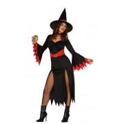Guirca Disfraz de bruja roja para mujer - Talla L