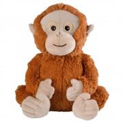 Merkloos Magnetron warmte knuffel orang oetan bruin aap 33 cm