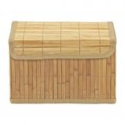 Xenos Opbergmand bamboe latjes - 19x28.5x18 cm