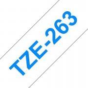 Tape 36mm TZe-263 Blå på Klar