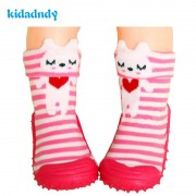 1Pair Cotton Cute Design Animal Image Baby Socks With Rubber Soles Floor Sock Non Slip Newborn Toddler Shoes Socks WS9321R