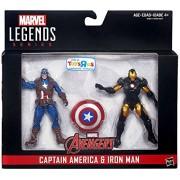 2016 Marvel Legends 3 3/4 Inch Civil War Exclusive 2 Pack: Captain America Vs. Iron Man