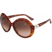 SWAROVSKI Oval Sunglasses(Brown)
