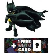 "Batman: ~5.5"" Herocross Hybrid Metal Figuration Action Figure Series + 1 FREE Official DC Trading Card Bundle"