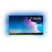 Televizor OLED Philips 65OLED754/12, Smart TV, 164 cm, 4K Ultra HD, Wi-Fi, CI+, Clasa energetica B, Argintiu